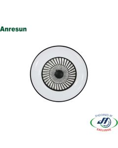 Anresun 40W Round Ceiling Fan with LED Light in White and Black