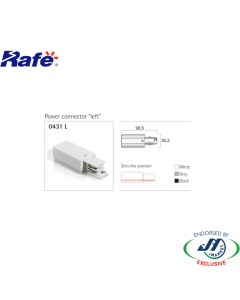 Rafe Power Connector in White