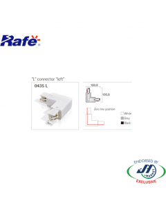 Rafe L Connector in White
