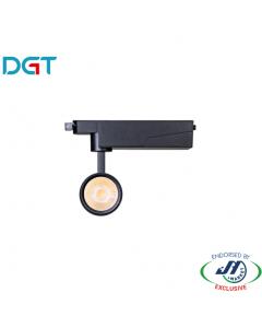 DGT 17W 3000k Warm White LED Track Light in Black