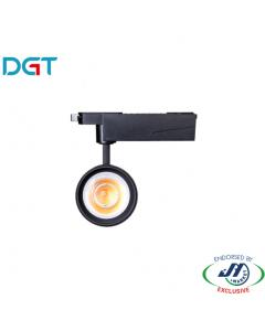 DGT 25W 3000k Warm White LED Track Light in Black