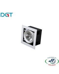 DGT 17W Adjustable 1 Light 3000k Warm White LED Spotlight