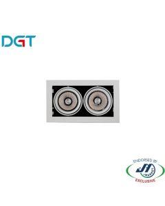 DGT 17W Adjustable 2 Light 4000k Neutral White LED Spotlight