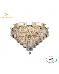 Imperial Gold 9 Light 6 Tier Chandelier