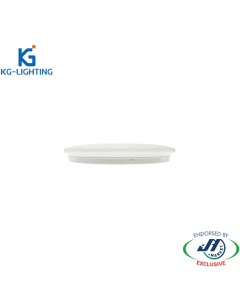 KG 24W Dimmable Tricolour Slim LED Oyster Light