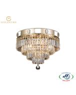 Imperial Gold 4 Light 4 Tier Deluxe Chandelier