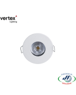 Vertex 6W 3000k Warm White Recessed LED Cabinet Downlight
